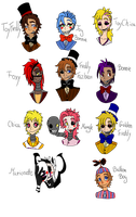 Five Nights at Freddy's Humanized by 96Alexchan