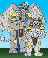 King Sphinx and Kit Sphinx by nibblahfrog
