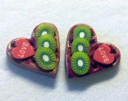 kiwi waffle earrings by sississweets