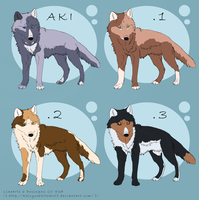 Wolves adoptable _ closed by Lew-LapinGris