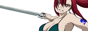 Fairy Tail 261 Titania Erza Render by Spitfire95