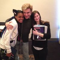 Vic Mignogna and me by chook-four