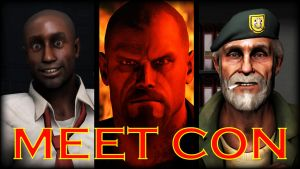[SFM Remake] Meet Con V2 - Left 4 Dead Poster by LoneWolfHBS