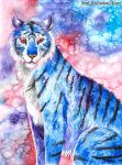 Blue tiger by FuzzyMaro