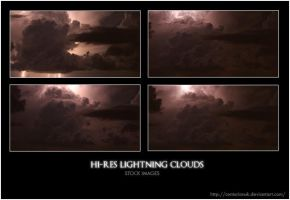 Hi-Res Lightning Clouds Stock by Centurionuk