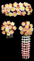 April Kanzashi Set for Maiko by thedrunkenprincess