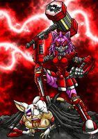 Mecha Amy vs Rouge by Berty-J-A