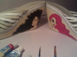 Finished Hair Pair by MsGameQueen