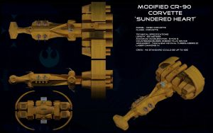 Sundered Heart modified CR-90 Corvette ortho by unusualsuspex