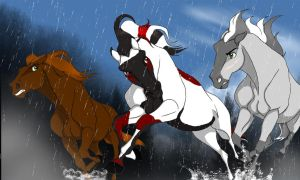 Racing through the Rain by JeweledFaith