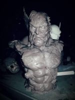 Wolverine Battle damaged Bust by logan250