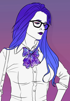 Hipster in Purple by Ycate