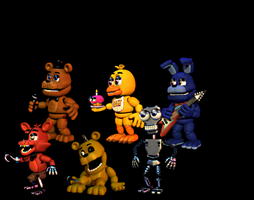 I made more accurate fnaf1 models for FNAF World by EmeraldTheBonnie1987