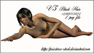 V3 black hair 1 by priesteres-stock