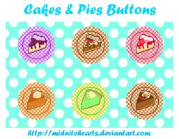 Cakes and Pies Button Designs by MidniteHearts