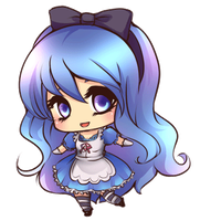 Juvia blinking chibi by chocobikies
