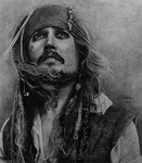 Cpt. Jack Sparrow -Pencil Drawing- by sawcyy