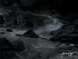 Grunge River by ancienthart