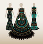 Dresses with Turquois Pattern by Dana-Ulama