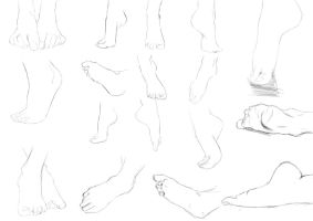 Studies day 3: Feets! by Crumpety
