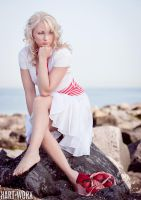 red stripes on white by Hart-Worx