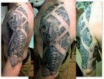 biomech tatt by karlinoboy