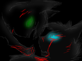 Ashfur and Hollyleaf Fail Scribble by Bast-The-Cat-Goddess