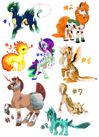 MLPFIM: Fantasy Pony Adopt Auction by GaelicKitsune