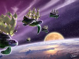 Flying Turtle Ships by VLAC
