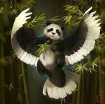 flying panda by GaudiBuendia