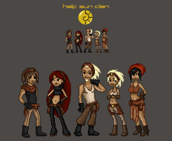 half sun clan pixel by AnirBrokenear