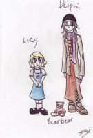 Lucy and Delphi by CaptainOscillator