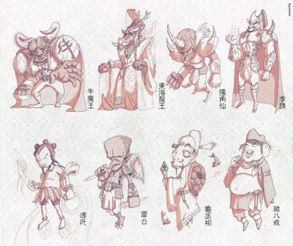 Chinese Myth Characters by Xennethy