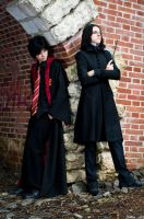 Snape and Potter by AnrierDeRierre