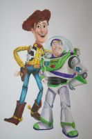 Woody and Buzz painting by Helenhsd