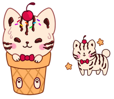 Kitty Cone by foxpill
