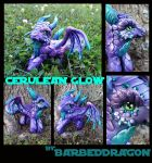 Cerulean Glow Dragon Pony by BarbedDragon
