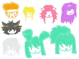 5D's Chibis by RaeSyndrome