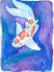 Koi Fish Galaxy : Water Colour Illustration by ImALoneRedRover