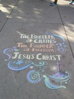 Chalk Art by FrostieFilly