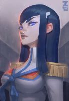 Satsuki Portait Fan Art by Zeronis
