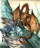 Wyverns of Ice and Flame by sarcovenator
