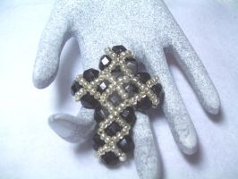 Black Crystal Cross by lenneheartly