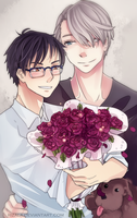 Yuri on Ice - Roses by RizaLa