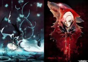 +NeverenD: Chapters covers+ Blue and Red by VanRah