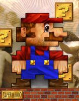 Super Mario 8Bit by jimiyo