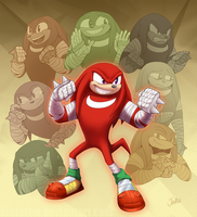 Boom! ALL the Knuckles by BlazeTBW