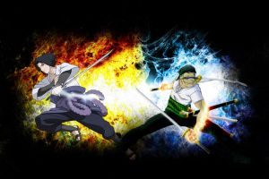 Zoro VS Sasuke by DrLinuX