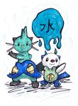 Dewott and Oshawott drawing (Request) by LizChwan