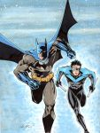 Batman and Robin Commision after Jim Lee by rodneyfyke